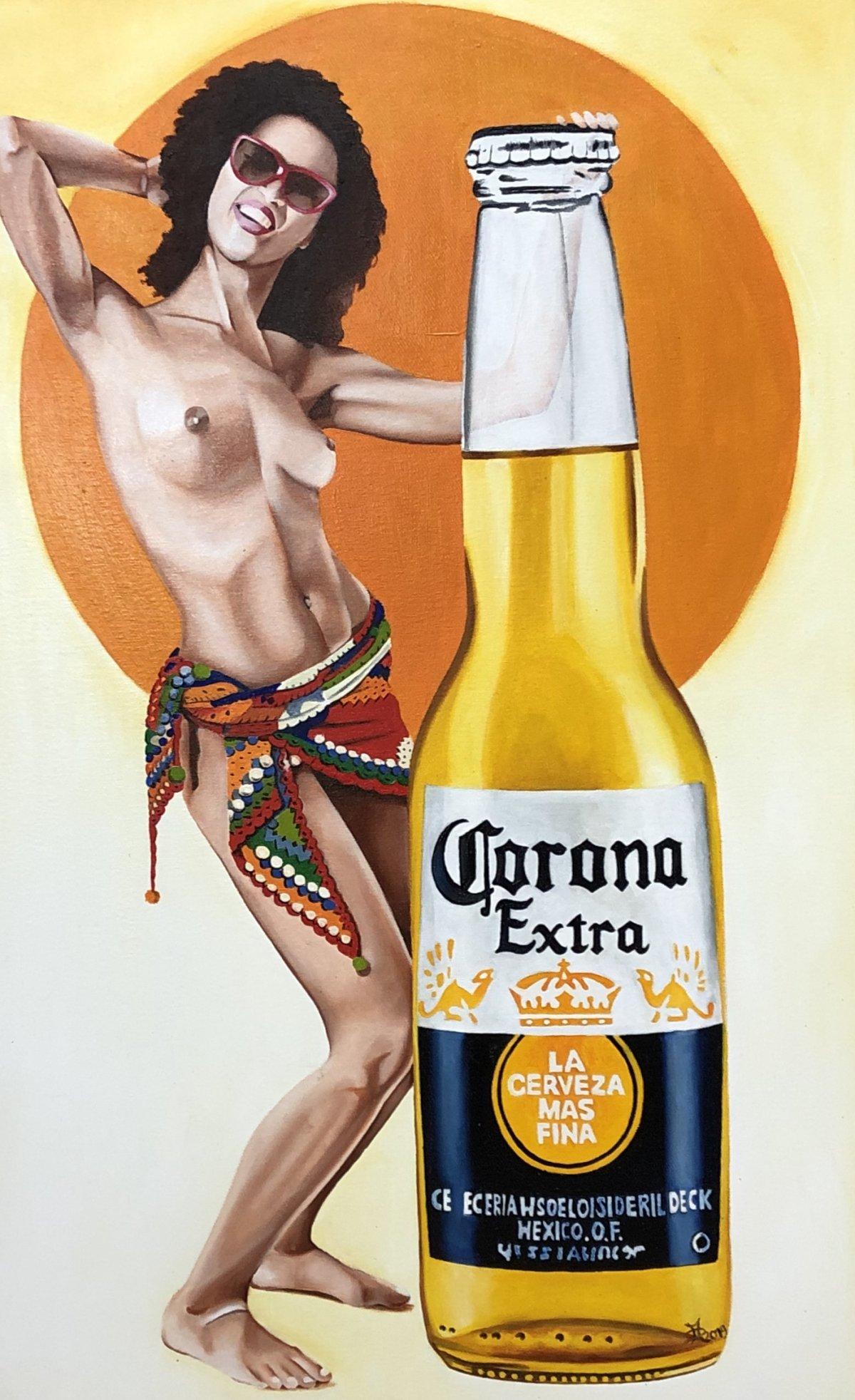 Corona-extra-maaikedirkx-pinup-popart-streetart-urbanart-galeroie-hamburg-popstreetshop